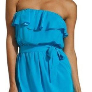Amanda Uprichard Aqua Blue Joan Cocktail Dress